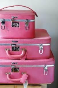 Pink Vintage Luggage