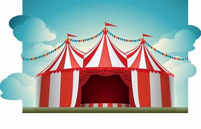 Tent Circus Carnival Clipart Background Tents Clip