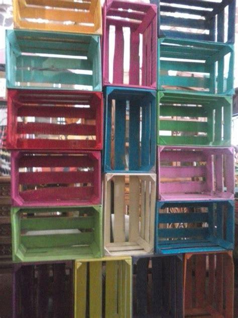 variedad de huacales de colores ideas pinterest