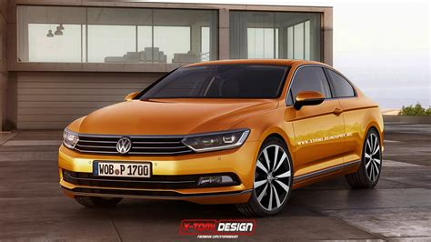volkswagen coupe 2015 volkswagen passat coupe and shooting brake rendered