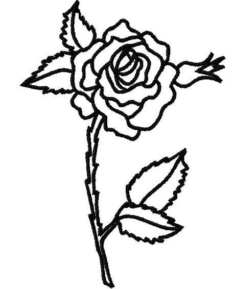 rose outline clipartioncom