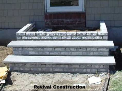 Concrete Step with Stoop Front Porch