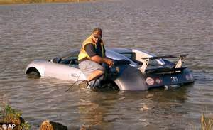 salvage one wedding cost bugatti supercar owner 39 distracted by low flying pelican 39 drives into a marsh daily mail