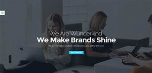 wunderkind premium responsive one page parallax html5 With html welcome page template