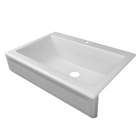 Home Depot Kitchen Sinks White by Lyons Industries Simplicity Apron Front Acrylic 34 In 1