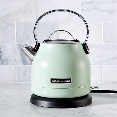 kitchenaid pistachio electric kettle reviews crate