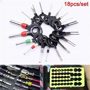 18 Pcs Car Wire Harness Plug Terminal Extraction Pick Connector Pin Remove Tool Set Xr657
