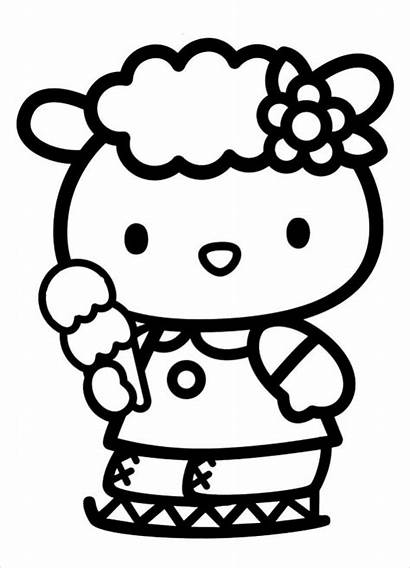 Kitty Hello Coloring Pages Pdf Birds