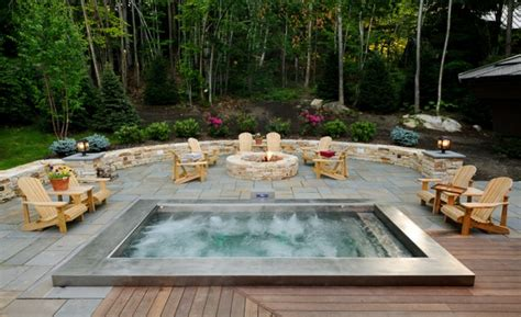 tub patio designs 25 stunning garden hot tub designs hot tubs tubs and jacuzzi