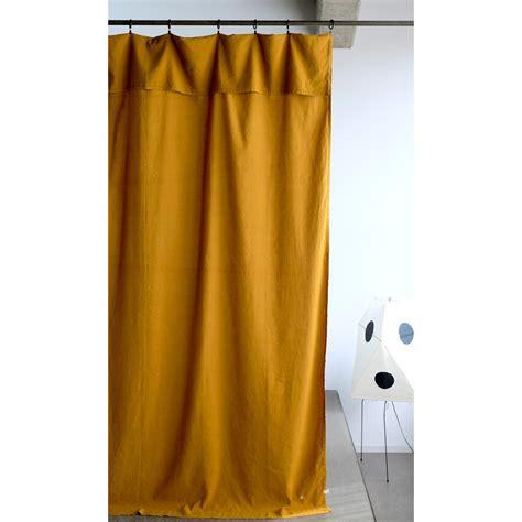 rideau lina 140x280 cm jaune moutarde la cerise sur le g 226 teau d 233 coration smallable
