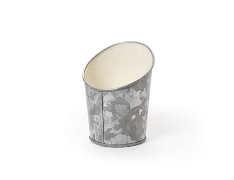 angled galvanized french fry cup  enterprises