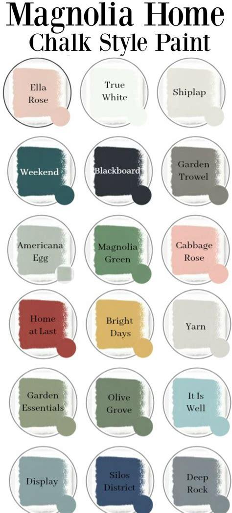 chalk paint magnolia home chalk paint colors farmhouse