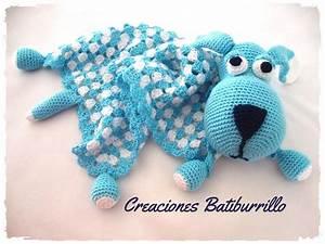 Creaciones Batiburrillo  Perro Manta De Apego En Crochet
