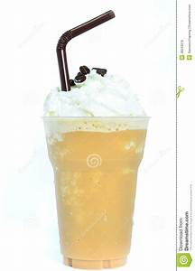 Blended Iced Coffee Whipped Cream. Royalty Free Stock ...