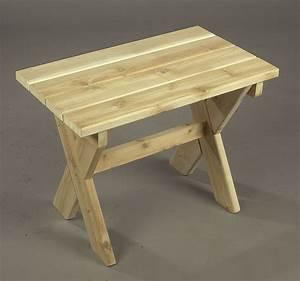 Table Jardin En Bois : table de jardin en c dre ~ Dode.kayakingforconservation.com Idées de Décoration