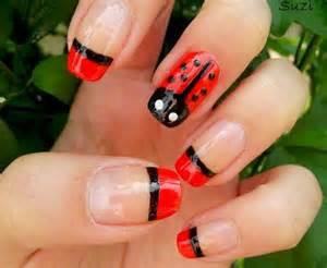 Ideas about ladybug nails on lady