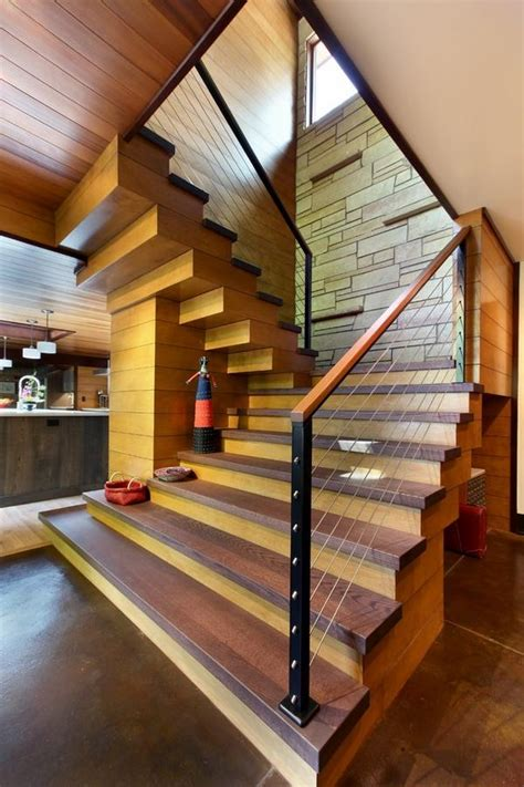 oak staircase designs  contemporary homes stylish home