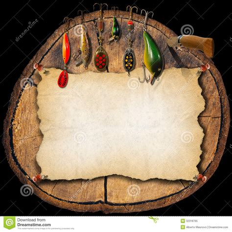 fishing tackle background trunk royalty  stock photo