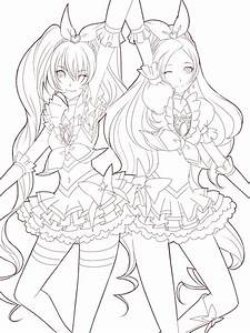 Manga Girl Coloring Pages For Adults Coloringstar