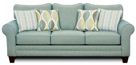 brubeck soft teal sofa  furniture  america sm