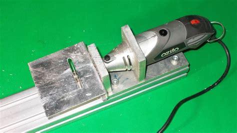 diy ozito mini wood circular table jig arrow  cutting