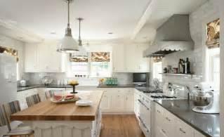 two tone kitchen countertops transitional kitchen