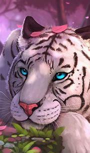 1080x1920 White Tiger Fantasy Art Iphone 7,6s,6 Plus ...