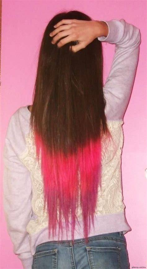 Pink Dip Dyed Hair In 2019 Hair Color Colored Hair Tips
