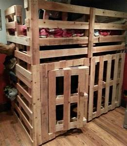 Hochbett Aus Paletten : pallet bunk beds pallets and bunk bed on pinterest ~ Markanthonyermac.com Haus und Dekorationen