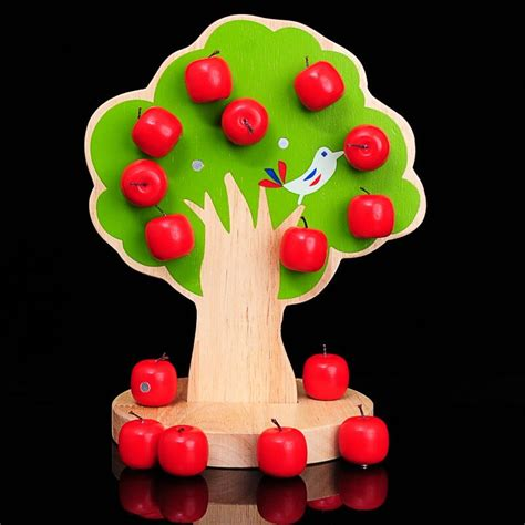 buy happy apple from china happy 600 | Cognitive font b Happy b font tree orchard wooden strings colored magnetic beaded fruit font b