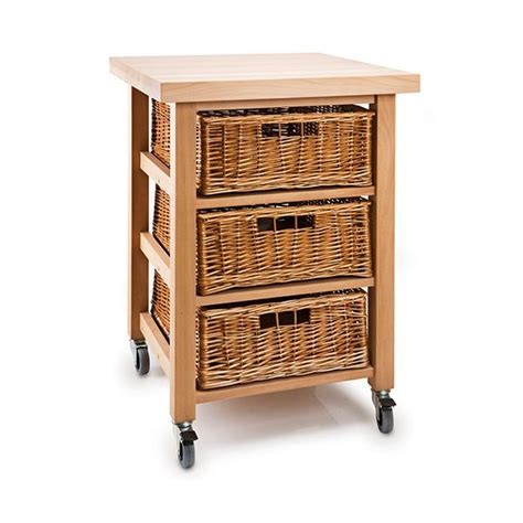 Veg Drawers by Eddingtons Lambourn Vegetable 3 Basket Kitchen Trolley