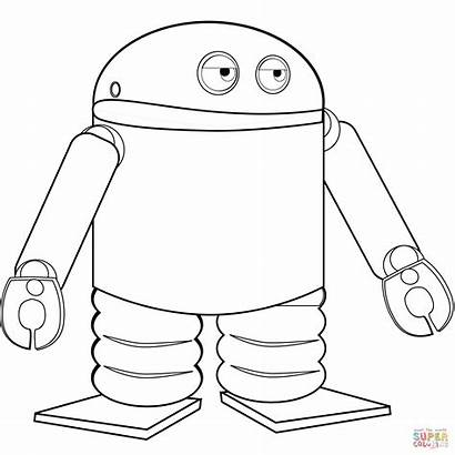 Coloring Robot Android Pages Printable Drawing Crafts