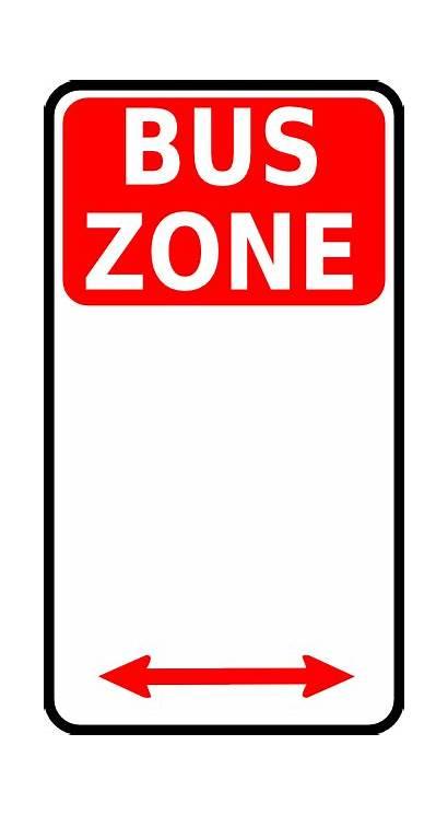 Bus Zone Sign Clip Clipart Vector Stop