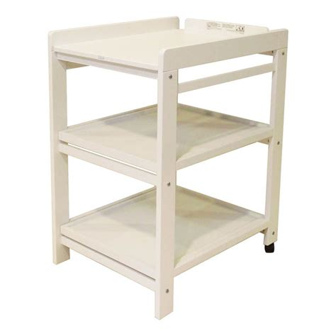 shelves changing table comfort changing table removable shelves white quax design baby