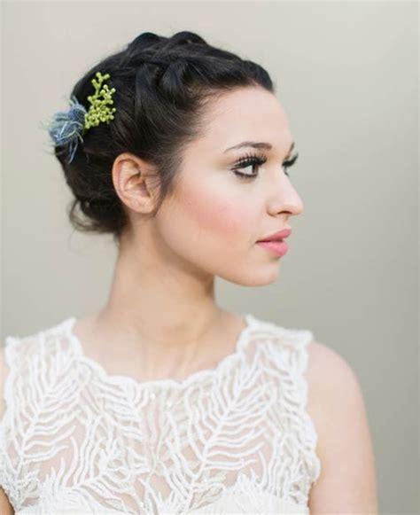 coiffure de mariage 30 modèles de coiffure mariage pour cheveux courts coiffure simple et facile