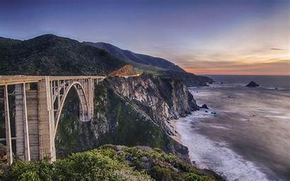 Bridge Sur Cliff Wallpapers Ocean California Bixby