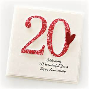 20th wedding anniversary gifts 20th anniversary custom card personalised wedding anniversary china the card boutique