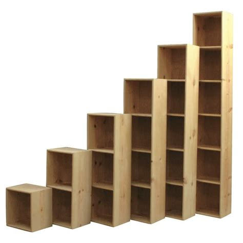 wooden cube shelf solid pine bookcase cubes