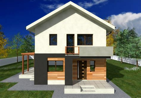 Small Two Story House Plans Balcony Design Pin Home
