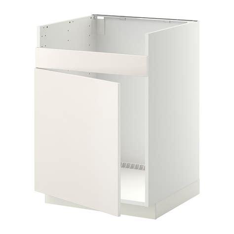 metod base cab f domsj 214 single bowl sink white veddinge