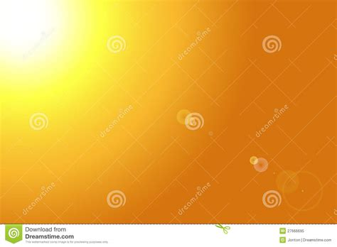 Yellow Bright Sun With Lens Flare Stock Illustration ...