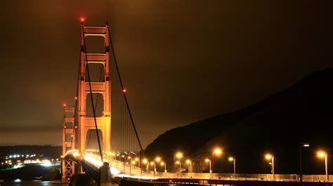 full hd wallpaper bridge illuminated night los angeles