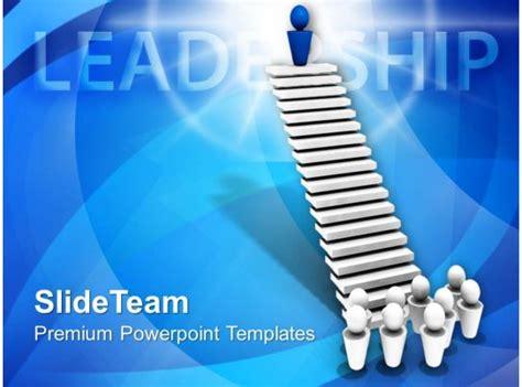 leader  top  stairs leadership powerpoint templates
