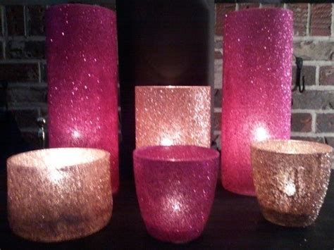 glitter candle holders ideas  pinterest gold