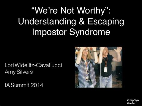Understanding & Escaping Impostor Syndrome