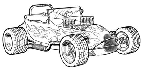 Kleurplaat Hotrod by Rod Coloring Page 29387 Bestofcoloring
