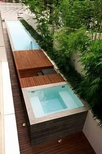 mini pool garten minimalistisch modern badewanne garten With französischer balkon mit kleiner pool im garten selber bauen