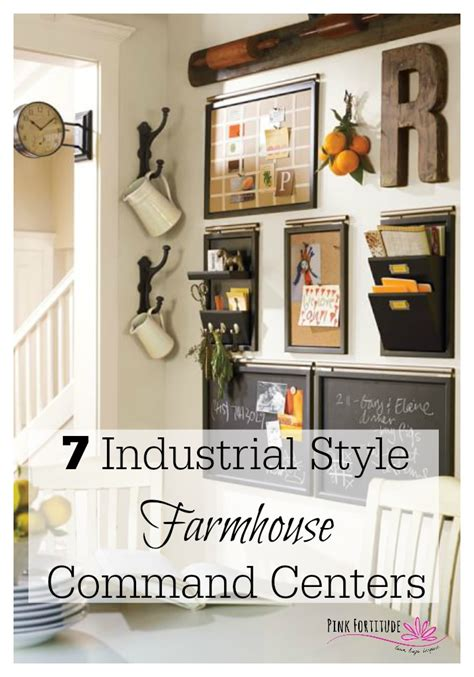 kitchen command center organization 7 industrial style farmhouse command centers pink 6587