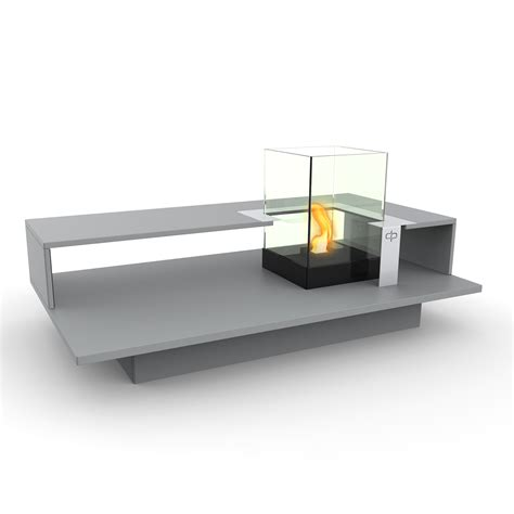 level fire coffee table black textured decorpro