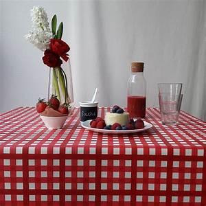 Nappe Ovale Enduite : nappe enduite ronde ou ovale guinguette rouge ~ Teatrodelosmanantiales.com Idées de Décoration